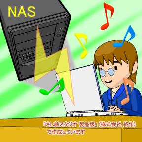 メディアサーバとしての NAS