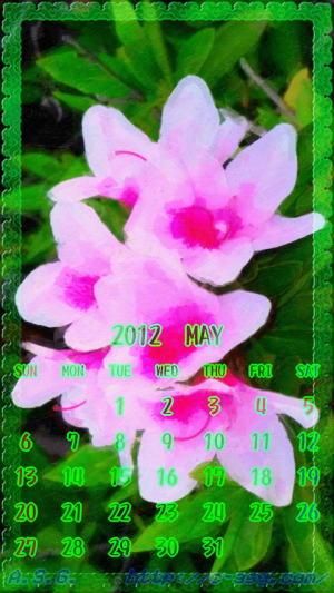 2012年 5月 カレンダー/WVGA